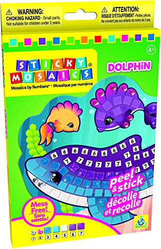 Sticky Mosaics == Dolphins Craft Toy == ORB Factory