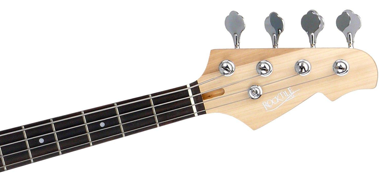 Rocktile Punsher Preci Style – Basso elettrico con pick-up splittato, 22 tasti, tastiera in effetto palissandro