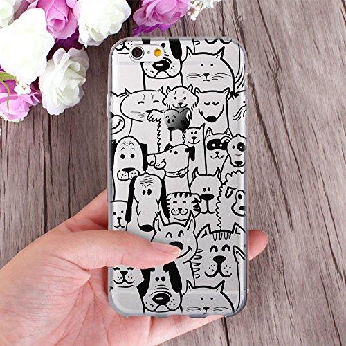 OOH!COLOR Design Case für IPHONE 7 Hülle Silikon Tiger ACA014 Animal Tiere Lion Löwe Tasche Schutz Case Elastisch Cover Print stylish weiche Etui mit Motiv Dünn Flexibel Tiere MPA142