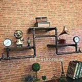 Creative Industries wind Rohrgestellen American Retro Cafe und Bar. Internet Cafes in einzelnen Anzeige Wandbehänge, 118*40*30 cm Rack