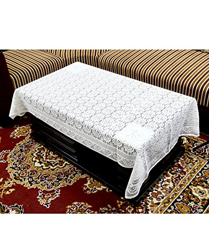 Kuber Industries™ Center Table Cover White Cloth Net 40*60 Inches