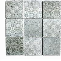 Fliesen Mosaik Mosaikfliese Keramik matt Küche Bad WC Boden 6mm Neu #567