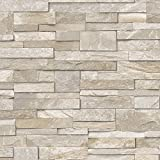 Here we have this slate brick effect wallpaper from Grandeco. Amazing quality finished with slick realistic details.;Presented in a sand stone with lighter and darker features in selected areas. Beautiful all round paper that would look stunning in y...