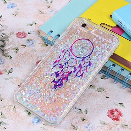 iPhone 6/6S Coque - 3D Design Créatif Prime Luxe Shine Flow Sand Adorable Flowing Flottant Mouvement Shine Glitter Sequins Bling Cute Pattern Téléphone Case pour iPhone 6/6S - Born to Shine 12-C