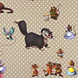 Fabulous Fabrics Disney Ratatouille Souris beige —