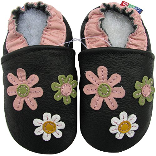 Carozoo 3 Flower Black 4-5y