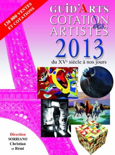 Guid'arts cotation des artistes 2013