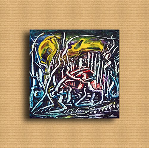 24 Zeitgenössische Leinwand (Wandmalereien Handgemalte Abstrakte Ölgemälde Impressionisten Modern zum Dekorieren Material Malerei 100% ANDMADE | Zeitgenössische Kunst Bruno Antonazzo_24_emozioni astratte 20x20cm)