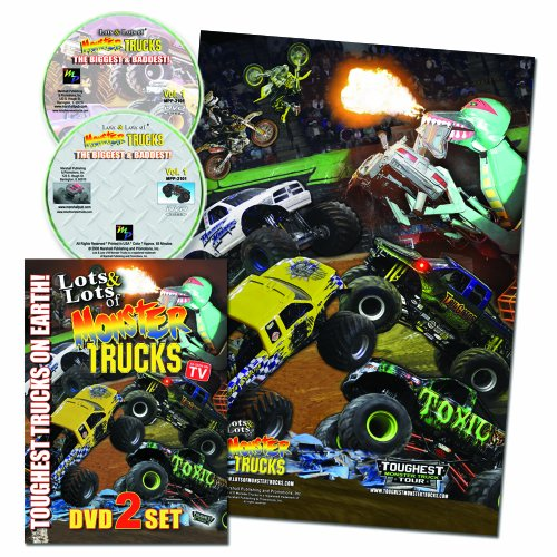 Lots of Monster Trucks 2 DVD Set w/ FREE Poster AS SEEN ON TV! - Monster-truck-dvd
