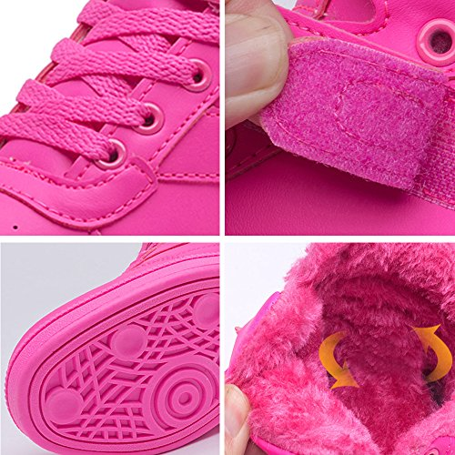 BAINASIQI Sneaker Donna Zeppa Interna Alte Scarpe da Ginnastica Casuale cuneo piattaforma catena stivaletti traspirante Scarpe sportive Rosa-02
