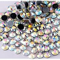 Diamantes de imitación termoadhesivos DMC Hotfix para la decoración de tejidos y ornamentos, varios tamaños disponibles, color Crystal (transparente) o Aurora Boreal (iridiscente)