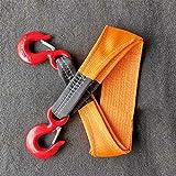 QWEA Hebeband Hochfester Haken-Hebekran Einteiliges Nähen von Kunstfaserbändern/Tragfähigkeit 1 Tonne Länge 1 m Orange