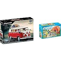 Playmobil Volkswagen T1 Combi 70176 & Tente et Campeurs - 70089
