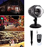 Snowflake Light Projector, Delicacy Remote Control Snowfall Decorative Light, Waterproof Snowflakes Night Light for Party, Holiday, Halloween and Christmas .