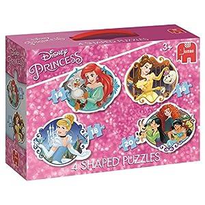 Jumbo Disney Princess 4 Shaped Puzzles - Rompecabezas (Rompecabezas de Figuras, Dibujos, Niños, Disney Princess, Chica, 3 año(s))