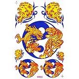Dragon Racing Tuning Autocollant Dimensions 27 x 18 cm