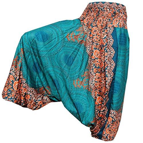 PANASIAM Aladin Pants, Design-Style: Mandala 3, Turquise