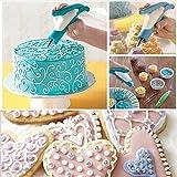 BlueBeach® Kuchen Dekorieren Stift Set Gebäckdüse Tipps Fondant Kuchen mit Icing Piping Tasche Zucker Handwerk Werkzeug Kit