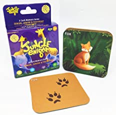 Jungle Enigma 3 Card Memory Game Mother, Baby and Footprint
