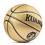 Kuangmi reinigen Basketball Ball Gr??e 5 F¨¹r Kinder Kinder Indoor Outdoor Verwendung, Gold