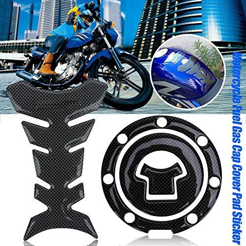 Lucky-all star Motorrad Fischgräten-Aufkleber Tank-Abdeckung Folie Schutz Motorrad Benzin Gas Cap Cove Pad Aufkleber für Honda CB250/400 CBR400 Set - Aufkleber-set Honda Für