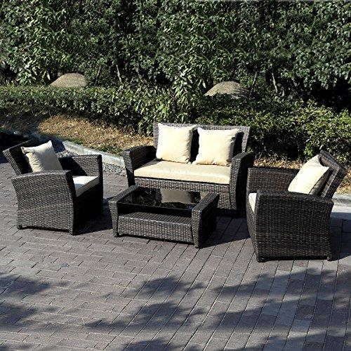 11tlg.Gartenmöbel Rattan Lounge Set Polyrattan Sitzgruppe Rattanmöbel Garnitur Garten - 4