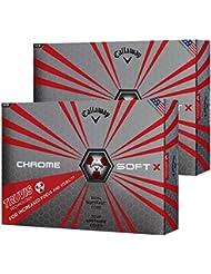 Callaway 2017 Chrome Soft X Truvis Technology Premium Dual SoftFast Core Hommes Tour Golf Balles