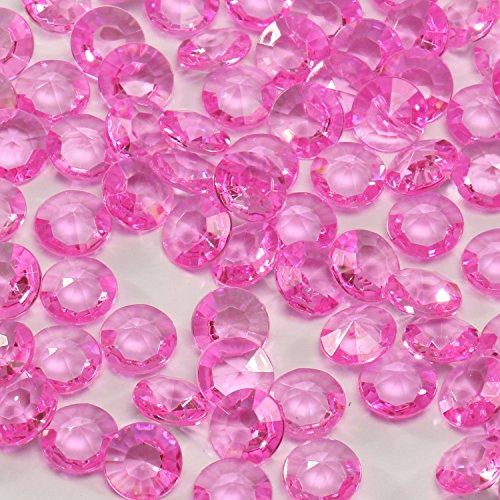 Acryl-Diamanten-Set rosa 400 Stück ✓ Ø ca. 1,2 cm groß ✓ bezaubernde Plastik-Streu-Deko für Hochzeit Tischschmuck Geburtstag Tischdeko ✓ Diamant-Deko-Steine für Dekozwecke | trendmarkt24-2120811