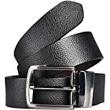 KAEZRI 100% Genuine leather Reversible Black and Brown Casual and Formal Belt For Men and Boys [ Size: 34 ]
