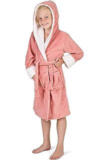 Ages Girls Emoji® White Unicorn Print Hooded Dressing Gown Robe 4 to 8 years