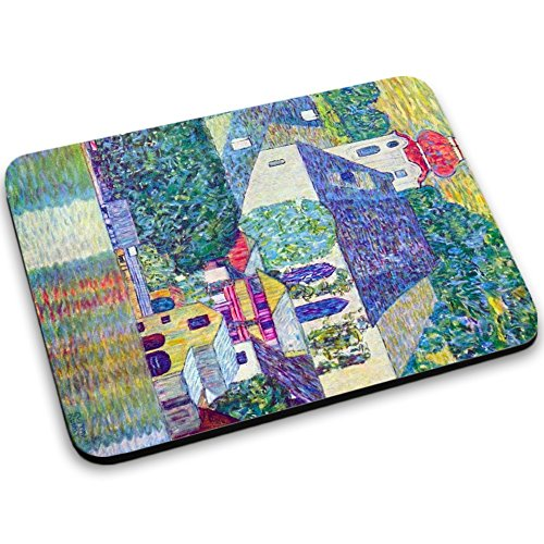 klimt-st-wolfgang-church-mouse-pad-tappetino-per-mouse-mouse-mat-con-disegno-colorato-antiscivolo-in