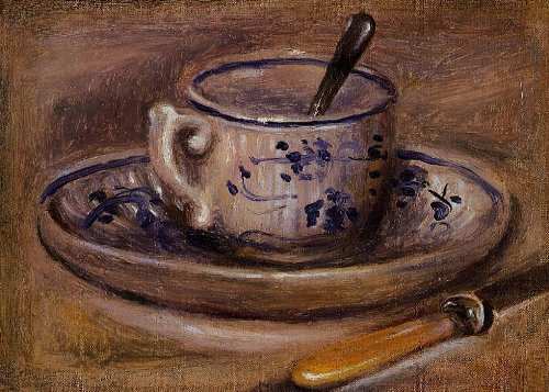Pittura a olio dipinta a mano - 20 x 14 inches / 51 x 36 CM - Pierre-Auguste Renoir - Still Life