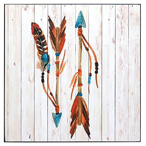 Wild West 25X 25CM, diseño vintage decoración madera de imagen cartel MDF, madera, Indianer Pfeile, 25cm x 25cm x 1cm