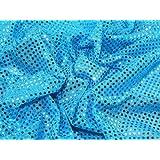 Tela (con lentejuelas, 114 cm de ancho), color azul