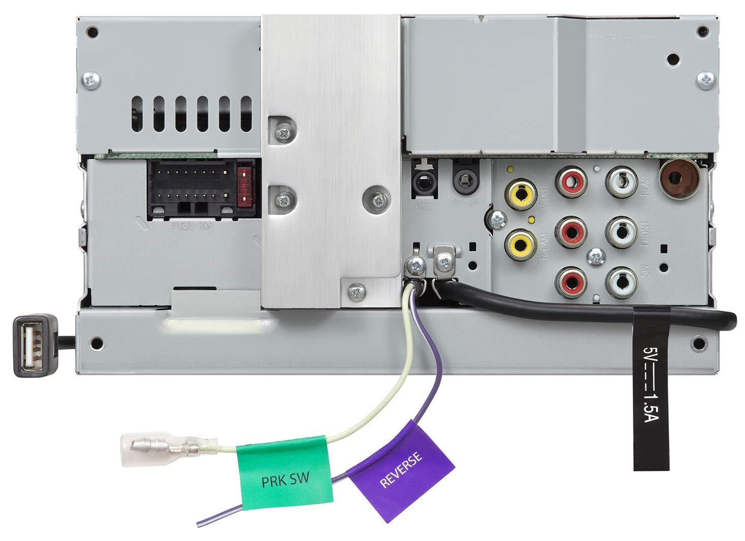 JVC-KW-M450BT-Digital-Media-2-Din-Autoradio-mit-157-cm-Touchscreen-2X-USB-Bluetooth-Freisprecheinrichtung-Android-Spotify-Control-Schwarz