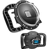 SHOOT Dome Port per GoPro HERO8 Black - Stabilizzatore a Doppia Impugnatura con Grilletto, Custodia Impermeabile Complessiva