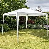 Harbour Housewares Faltzelt für den Garten - mit Dachplane - Groß - 3 x 3 m - Weiß
