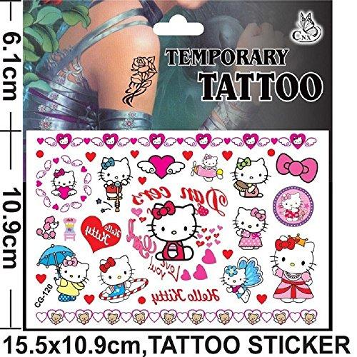 Cg120 tattoo temporanei personaggi cartoni animati per bamabini