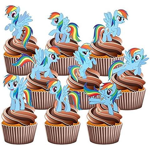 My Little Pony Rainbow Dash-12 decorazioni commestibili