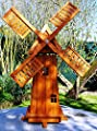 XL DELUXE PREMIUM Holzwindmühle hell gebeizt~GARTEN DEKO~WINDMÜHLE von Cudek Figurenhandel - Du und dein Garten