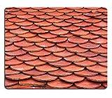 Mousepads senza cuciture, colore: argilla rossa tegole immagine ID by 20387057 Liili personalizzato Mousepads resistenza alle macchie Collector-Kit da cucina da tavolo Drink personalizzato resistenza alle macchie Collector-Kit da cucina, da tavolo
