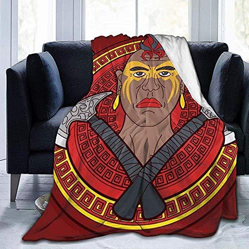 ZAlay Weich für Couch, Bett, Reise, leichte flockige Flanelldecke für ganzjähriges Tomahawk -