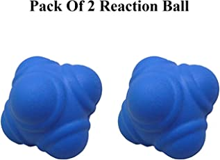 Foricx Rubber Reaction Ball (Multi-Colour, Pack of 2)