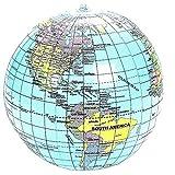Tolle Weltkugel Globus Wasserball aufblasbar Englisch Erde Ball Strandball Beachball