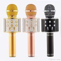 ERHETUS Handheld Mic WS 858 Wireless Bluetooth Karaoke Microphone for singing with Speaker for All Smartphones (Random Mike Colour) (WS-858)