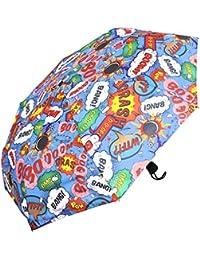 2c3e6e93a6a23 Regenschirm Taschenschirm Handöffner leicht   kompakt Comic Style bunt  CRASH BOOM BANG ...