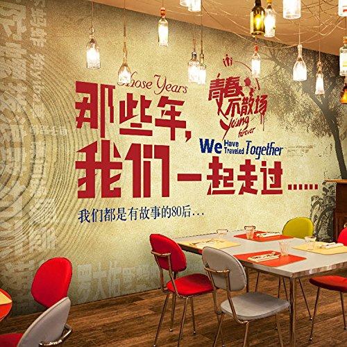 Fototapete Tapete Wanddeko Home Decor-Kundenspezifische Retro Nostalgische 3D Große Wandgemälde Ktv Bar Heißen Topf Tee Shop Tapete Kaffee Restaurant Persönlichkeit Tapete 350Cmx245Cm (137.8 By 96.5 I (Heiße Kaffee Töpfe)
