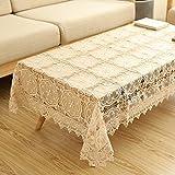 fwerq Im europäischen Stil spitze Tischdecke, TV-Schrank Abdeckung Handtuch Kanten Handtuch kleinen Kaffeetisch Decken, Kühlschrank Deckel - ein 24*24 in