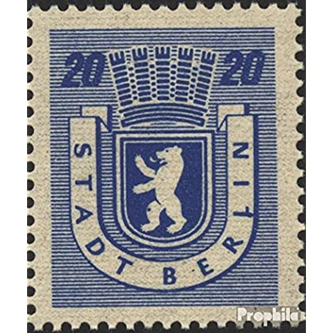 soviética zona (aliada.ocupación.) 6A VI, Falta I+III encendido una sello (1 en lugar de I, mancha en Rodilla) 1945 de Berlín oso (sellos para los coleccionistas)