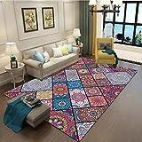 RUG Clothes UK- Teppich Klassischer Ethno-Stil Teppich Wohnzimmer Schlafzimmer Blended Abstrakte Kunst Bohemian Color Stitching Study Mat Teppich Teppich (Farbe : B, größe : 120x170cm)